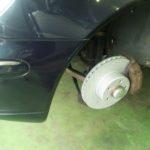 オークションの車 ベンツS350 ブレーキ鳴きで ローター交換